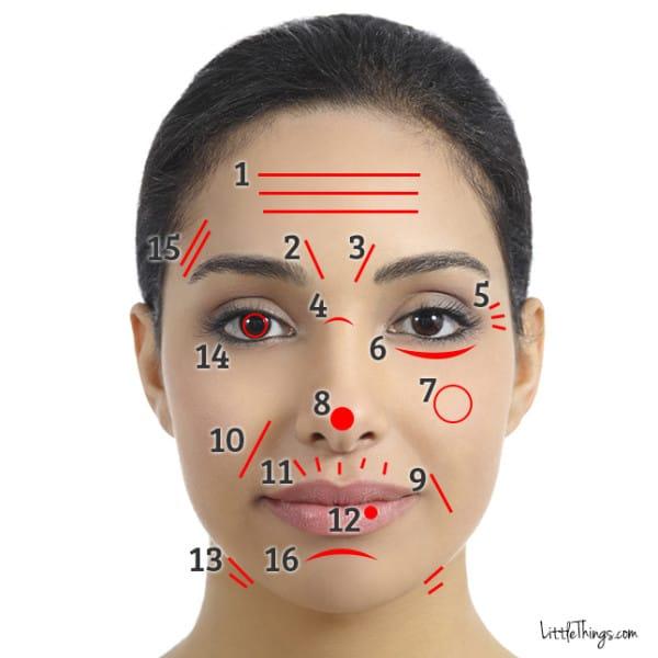 Морщины на твоем лице могут многое рассказать о здоровье. Вот куда смотреть