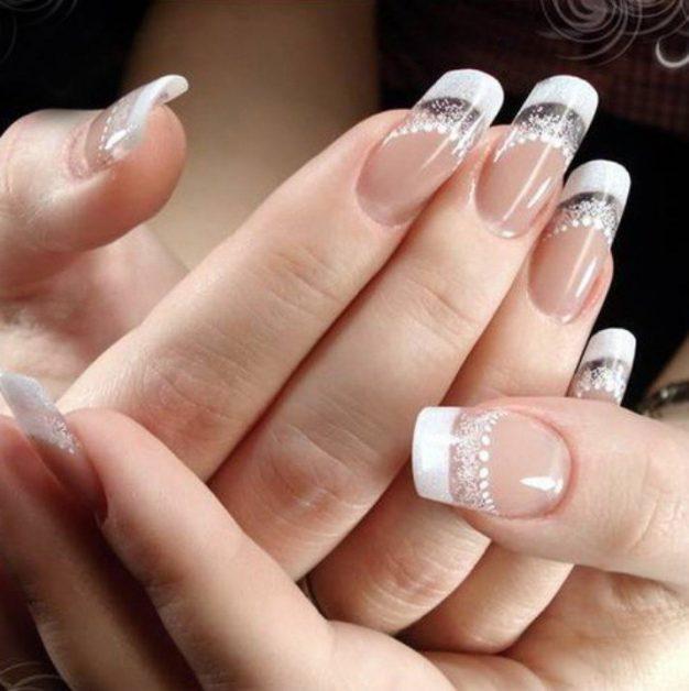 Французского маникюр на разную форму и длину ногтей
