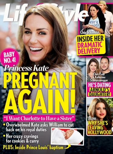 Решили подарить Шарлотте сестричку. Кейт Миддлтон беременна четвертым