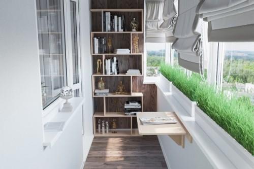 Расширение пространства на балконе или лоджии: варианты и идеи