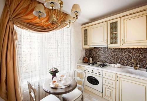 Короткие шторы в кухню — виды, ткани, преимущества